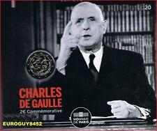 FRANKRIJK - MINIBLISTER - 2 € COM. 2020 BU - CHARLES DE GAULLE