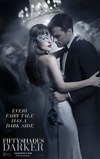 FIFTY 50 SHADES DARKER 2017 MOVIE FILM POSTER JAMIE DORNAN DAKOTA JOHNSON