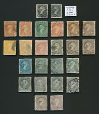 More details for canada stamps 1868-1876 qv large heads, beautiful collection to 15c
