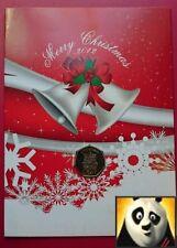 2012 GIBRALTAR Christmas 50p Fifty Pence Christmas Bells Coin Card