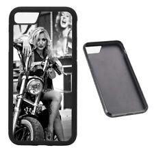 Vintage Bike chica de goma teléfono caso se adapta iPhone
