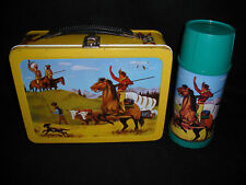 1959 Pathfinder Lunch Box & Thermos * Vintage * Western * Very good - Excellent
