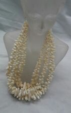 Stunning vintage 14k pearl clasp angel skin coral branch 3 strands  necklace