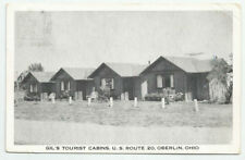 Gil's Tourist Cabins US Route 20 Oberlin Ohio Postcard 1953 Vintage OH