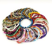 Natural Matte Gemstone 6mm Beads Stretchy Bracelet Agate Jade Crystal Healing
