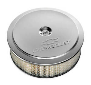 """Holley 120-215 GM Muscle Series Air Cleaner 14"""" x 4"""" - Polished"""