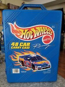 HOT WHEELS 48 CAR CARRY CASE Style #20020 Mattel Blue Plastic Tara Toys 1998