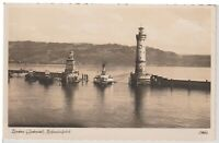 Lindau Germany Lighthouse Vintage Real Photo Postcard