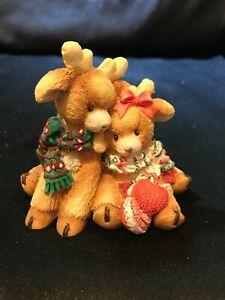 "Enesco Santa's Special Deerlivery ""ROMEO & JULIET"" by Mary Rhyner 1994"