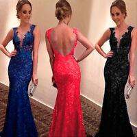 encaje vestido de fiesta y baile azul real rojo negro NUEVO bc279