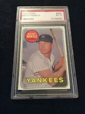 1969 Topps Baseball Mickey Mantle #500 PSA 5 EX Condition. Free Shipping