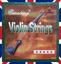 Violin Strings Set 4/4 3/4 - Nickel Round wound Beginner to Intermediates