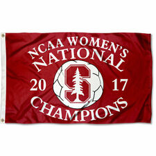 Stanford Cardinal 2017 Women's Soccer Champions Flag Large 3x5