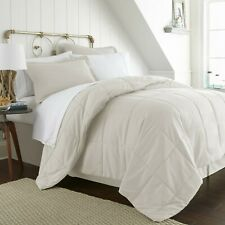 Ivory 8 Piece  Bed in a Bag Comforter Sheet Set Shams Bedding Microfiber Linens