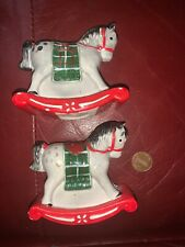 Josef Originals Rocking Horse Salt And Peper Shakers Christmas