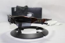 New Oakley Flak Jacket 1.0 Sunglasses Polished Rootbeer w/Grey Lens 42-296