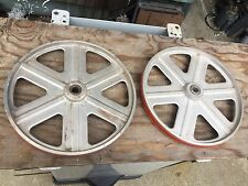 "Delta Rockwell 14"" Band Saw Wheels Silicone Tires Brand New Bearings Bandsaw"