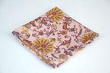 Lord R Colton Masterworks Pocket Square - Belvoir Pink Autumn Silk - $75 New