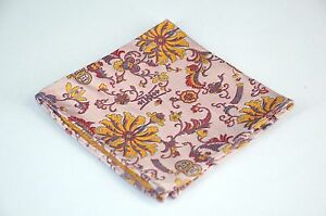 Lord R Colton Masterworks Pocket Square - Belvoir Pink Autumn Silk - $75 New