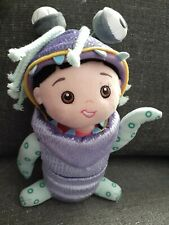 """DISNEY PARKS PIXAR Monsters Inc BOO IN MONSTER COSTUME Plush DOLL Toy 12"""" New"""