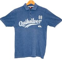 Quiksilver Spellout Mens Polo Shirt Size Small