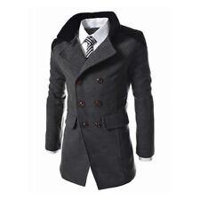 Formal Men Slim Trench Coat Winter Long Jacket Outwear Double Breasted Overcoat