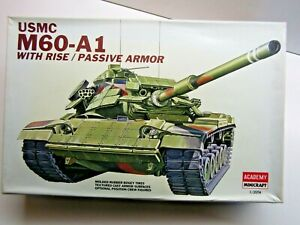 Academy Minicraft 1:35 Scale USMC M60-A1 Tank Model Kit - Used - Kit # 1349