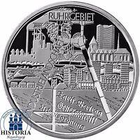 Deutschland 10 Euro Industrielandschaft Ruhrgebiet 2003 Spiegelglanz Münze