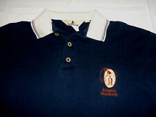Calgary Stampede CFL Embroidered Polo Shirt Men's Medium Canadian Football