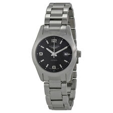Longines Conquest Classic Black Dial Stainless Steel Ladies Watch L22854566