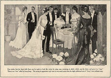 1904 Ad Ivory Soap Edwardian Couples Formal Attire Fashions Dining Table Linens