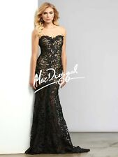 MAC DUGGAL EMBELLISHED STRAPLESS FRENCH LACE 93507D GOWN DRESS sz 14
