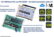 PLC con PIC16F887 V31 COMPCT PLC MOVtech per Build automation LoRa IoT