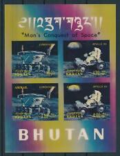 [104080] Bhutan 1971 Space travel Plastic 3D effect Sheet MNH