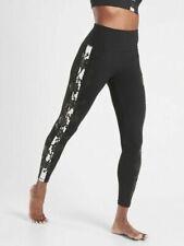 ATHLETA Elation Rose Stripe 7/8 Tight Leggings S SMALL Black LIMITED EDITION