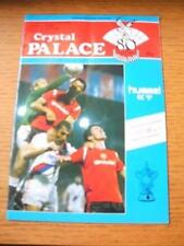 06/01/1986 Crystal Palace v Luton Town [FA Cup] [Programmed Dated 04/01/1986] (R