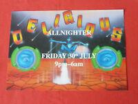 Delirious rave flyer / flyers - Allnighter July 1993 Great PEZ artwork MINT