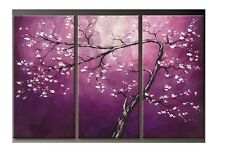 40x80CM *3PCS Modern Flowers Frameless Hand-painted On Canvas Art Oil Painting