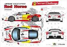 "[FFSMC Productions] Decals 1/18 Ferrari F-458 Challenge ""Red Horse"" (Non Race)"