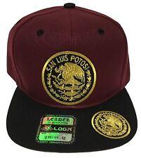 SAN LUIS POTOSI MEXICO HAT 2 LOGOS MARRON BLACK LOGO FEDERAL SNAP BACK NEW HAT