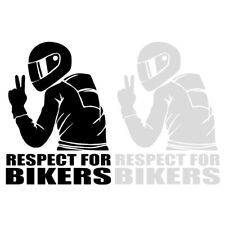 7.4inch Respect for Bikers Sticker Car PET Decal Funny Motorcycle Waterproof x1