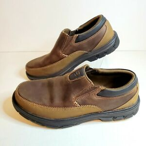 Skechers Mens Size 8 Segment Relaxed Fit Memory Foam Slip On Shoes Brown 64261