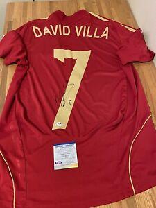 David Villa Signed Spain Jersey PSA/DNA Coa Rare