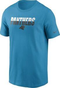 Carolina Panthers Mens Nike Split Wordmark S/S T-Shirt - XXL/XL/Large - NWT
