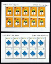 Kosovo 2004 postfrisch Kleinbogen Satz von MiNr. 18-19   5 Jahre UNHCR