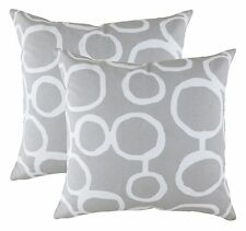 TreeWool, (2 Pack) Cotton Canvas Ringo Accent Decorative Throw Pillow Covers