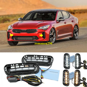 For KIA Stinger 2018-2020 LED Front Bumper Fog Lights/Turn Signals 2pcs