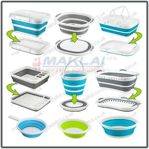 POP-UP Collapsible SPACE SAVING Compact STORAGE Folding Kitchen Washing Laundry