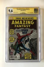 True Believers Amazing Fantasy 15 CGC 9.6 signed by Stan Lee Reprint Spider-Man