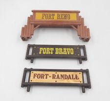 Playmobil Western Zubehör Fort Eingang Schilder Randall Bravo Reno